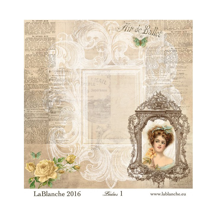 Papier do scrapbookingu - La Blanche - Ladies 01
