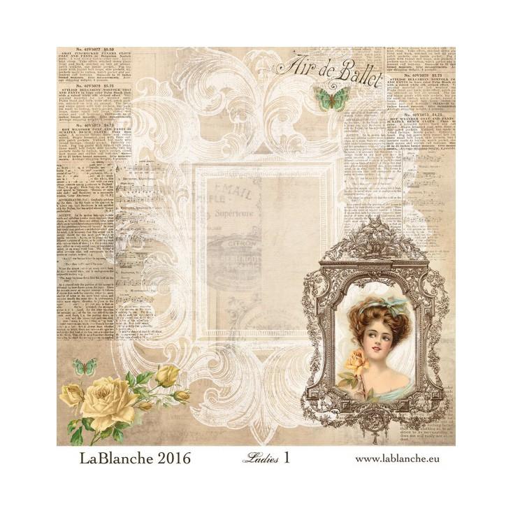 Scrapbooking paper - La Blanche - Ladies 01