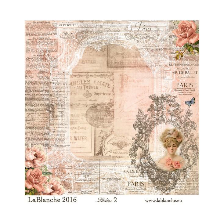 Scrapbooking paper - La Blanche - Ladies 021