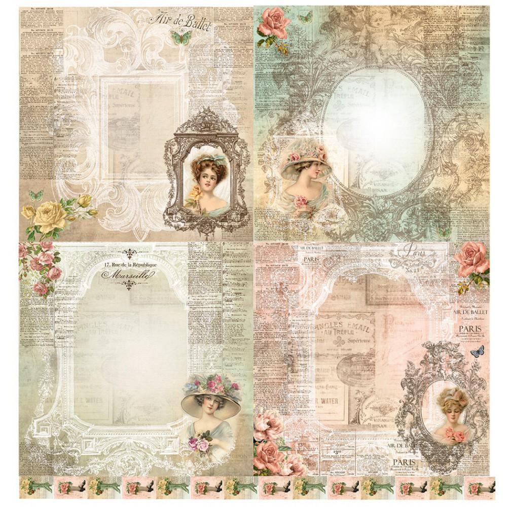 Scrapbooking paper - La Blanche - Ladies 03