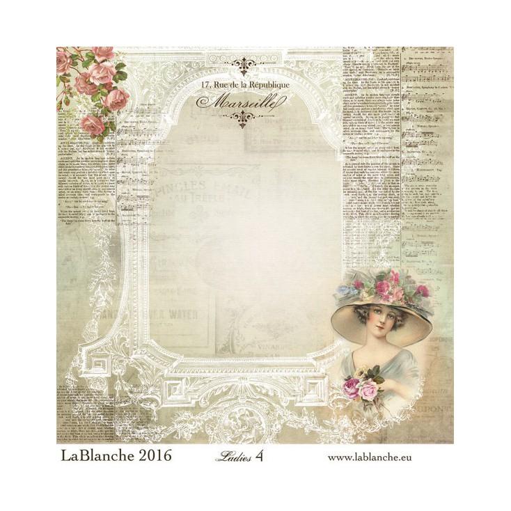 Papier do scrapbookingu - La Blanche - Ladies 04