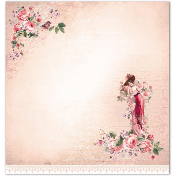 Papier do scrapbookingu - La Blanche - Rosen 05