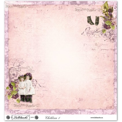 Papier do scrapbookingu - La Blanche - Children 01
