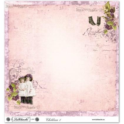 Scrapbooking paper - La Blanche - Children 01