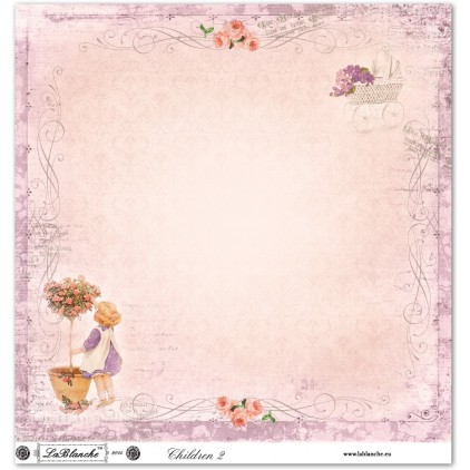 Papier do scrapbookingu - La Blanche - Children 02