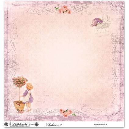 Scrapbooking paper - La Blanche - Children 02