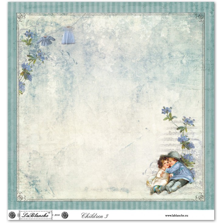 Papier do scrapbookingu - La Blanche - Children 03