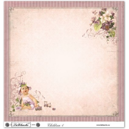 Papier do scrapbookingu - La Blanche - Children 04