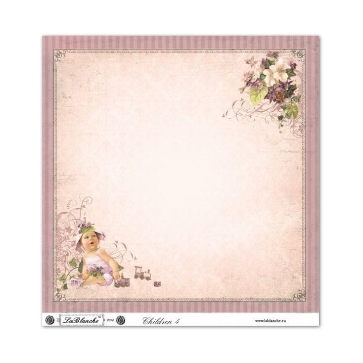 Scrapbooking paper - La Blanche - Children 04