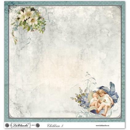 Scrapbooking paper - La Blanche - Children 05