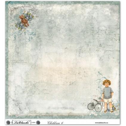Scrapbooking paper - La Blanche - Children 06