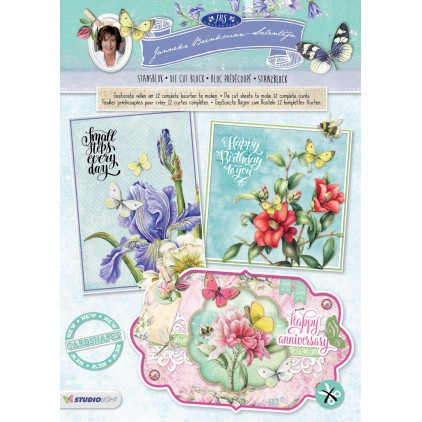 Scrapbooking paper pad - Studio Light - Janneke Brinkman 61 - Die Cut Block