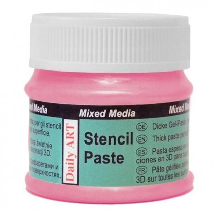Stencil Paste - Daily Art - Pearl Pink - 50ml