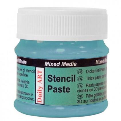 Stencil Paste - Daily Art - Pearl Blue - 50ml