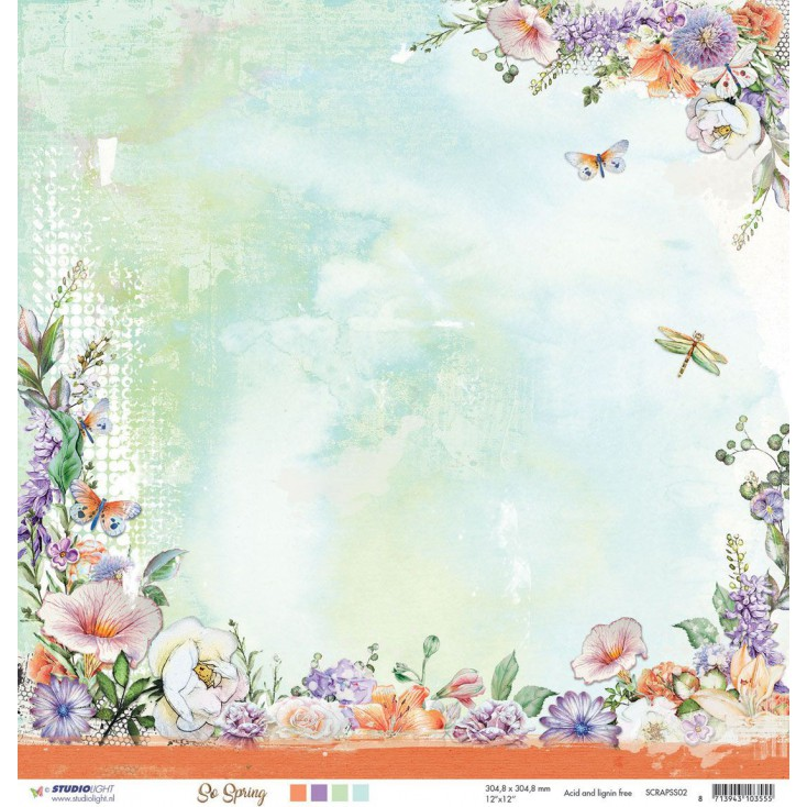 Scrapbooking paper - Studio Light - So Spring 02