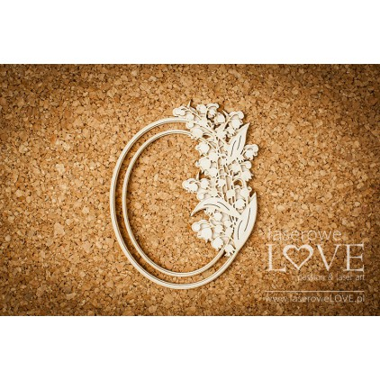 Laser LOVE - Oval frame with lilies  - 1 pcs. - El Santo Rosario