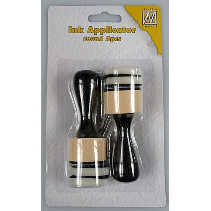 Ink applicator - round - 2 pcs