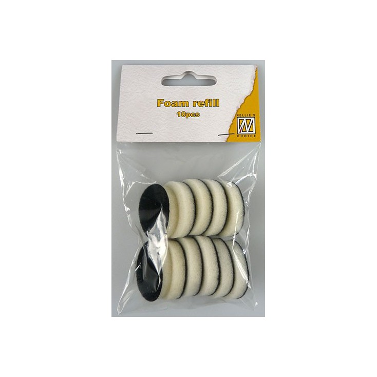 Foam, sponge for ink applicator - round - 10 pieces