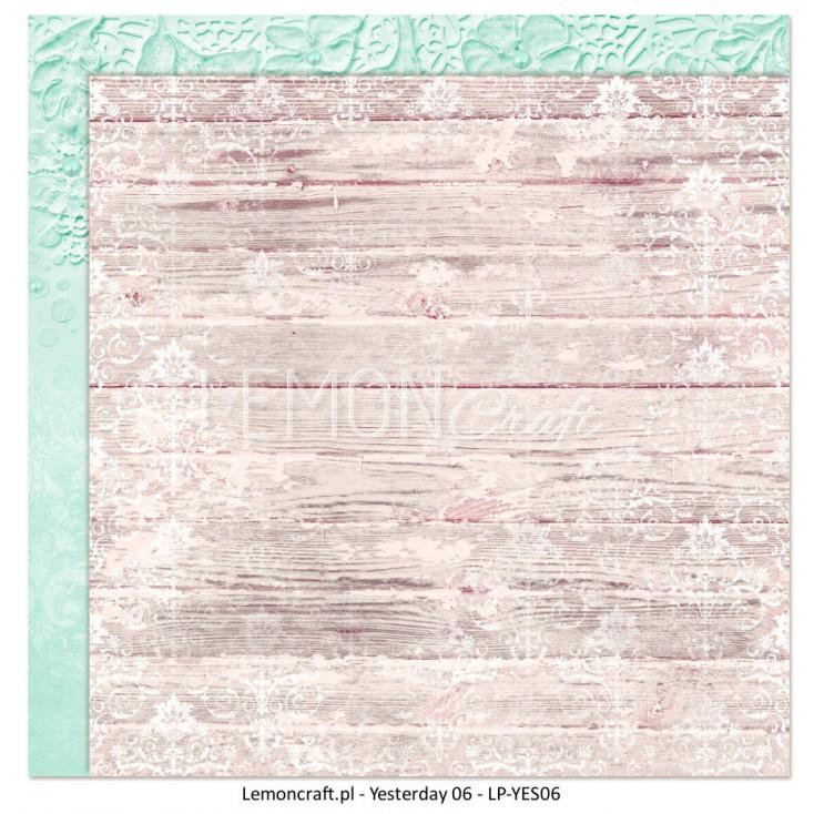 Dwustronny papier do scrapbookingu - Dom Róż 06