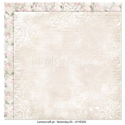 Double sided scrapbooking paper - Yesterday 05