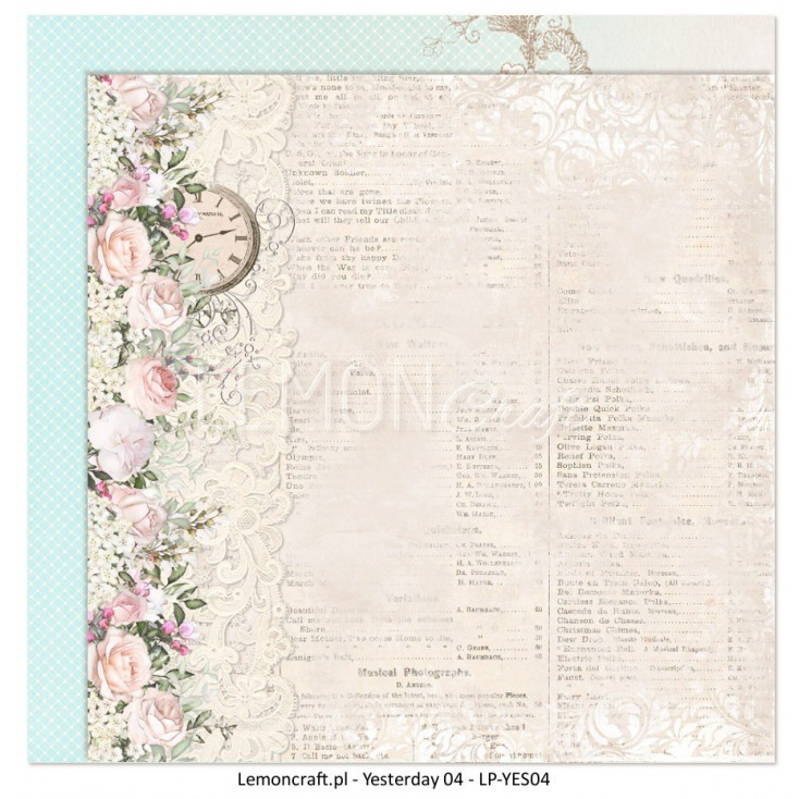 Double sided scrapbooking paper - Yesterday 04