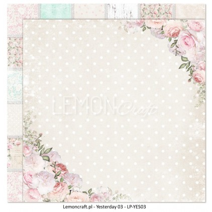 LemonCraft – Yesterday Collection – 12 x 12 Double Sided Paper – 03