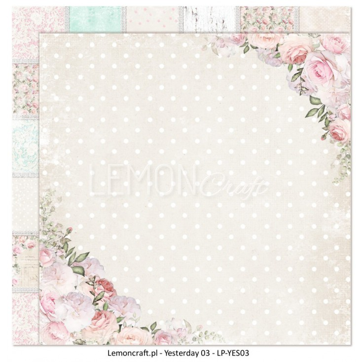 Double sided scrapbooking paper - Yesterday 03