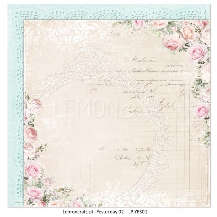 LemonCraft - Yesterday Collection - 12 x 12 Double Sided Paper - 02