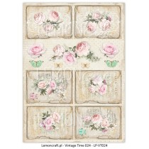 One-sided scrapbooking paper - Vintage Time 024