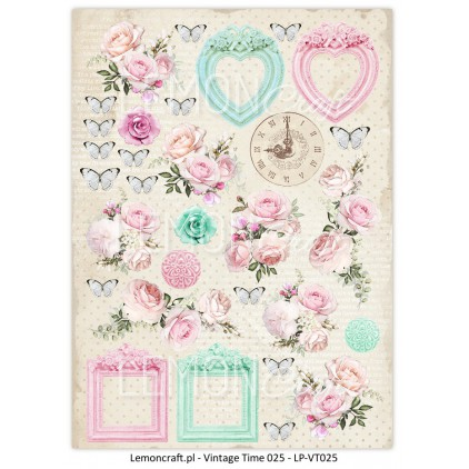 One-sided scrapbooking paper - Vintage Time 025