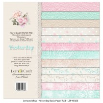 Stack of basic scrapbooking papers - Yesterday