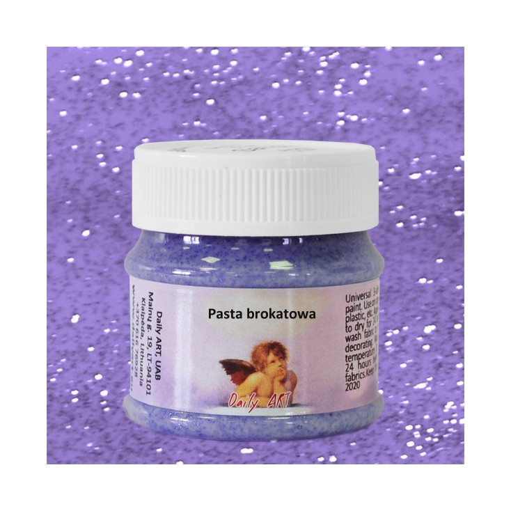 Pasta brokatowa - Daily Art - Fioletowa - 50ml