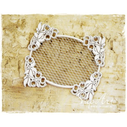 "SnipArt - Laser cut - Frame ""secession"" - oval, trellis"