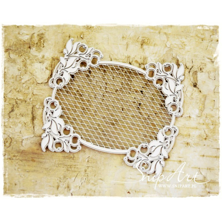 """SnipArt - Laser cut - Frame """"secession"""" - oval, trellis"""