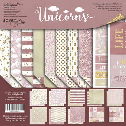 Set of scrapbooking papers - Scrap Mir - Unicorns