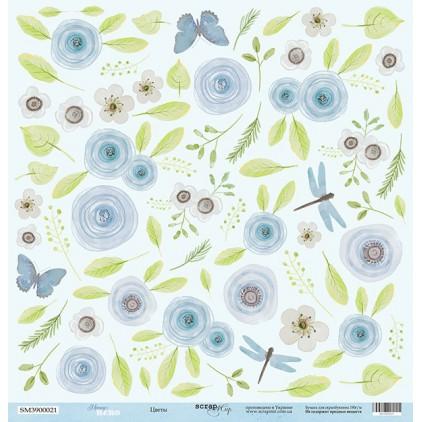 Papier do tworzenia kartek i scrapbookingu - Scrap Mir - Bohater Mamusi - Kwiaty