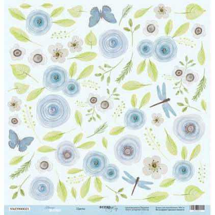 Scrapbooking paper - Scrap Mir - Mommy's Hero - Flowers