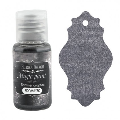 Dry, magic paint with effect - Fabrika Decoru - shimmer graphite - 15ml