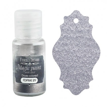 Dry, magic paint with effect - Fabrika Decoru - dove-colored - 15ml