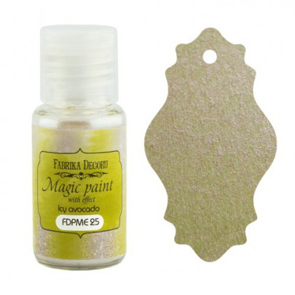 Dry, magic paint with effect - Fabrika Decoru - icy avocado - 15ml
