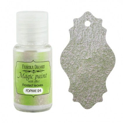 Dry, magic paint with effect - Fabrika Decoru - frosted leaves - 15ml