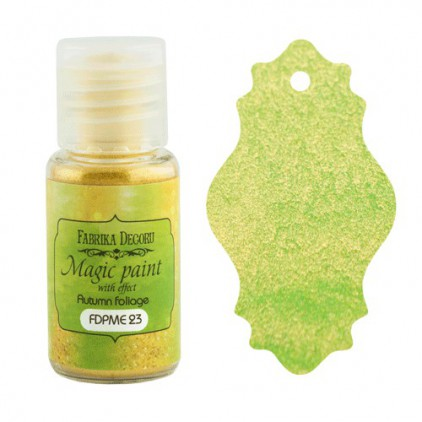 Dry, magic paint with effect - Fabrika Decoru - autumn foliage - 15ml