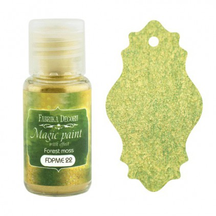 Dry, magic paint with effect - Fabrika Decoru - forrest moss - 15ml