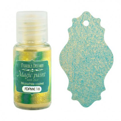 Dry, magic paint with effect - Fabrika Decoru - malachite casket - 15ml