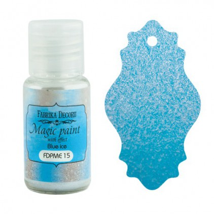 Dry, magic paint with effect - Fabrika Decoru - blue ice - 15ml