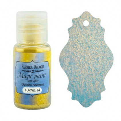 Dry, magic paint with effect - Fabrika Decoru - golden heavens - 15ml