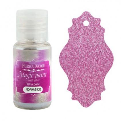 Farbka w proszku z magicznym efektem - Fabrika Decoru - popielaty róż - 15ml