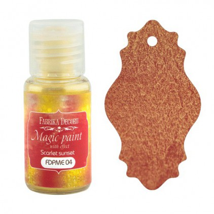 Dry, magic paint with effect - Fabrika Decoru - scarlet sunset - 15ml