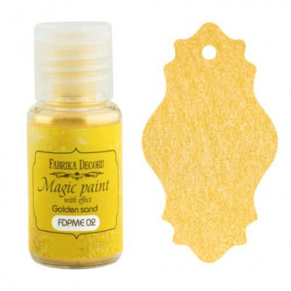 Dry, magic paint with effect - Fabrika Decoru - golden sand - 15ml