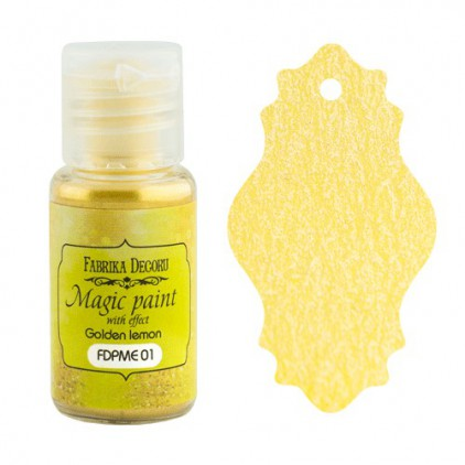 Dry, magic paint with effect - Fabrika Decoru - golden lemon - 15ml